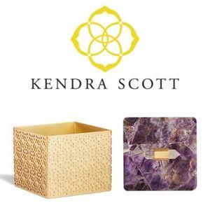 NEW Kendra Scott Square Filigree Box Amethyst